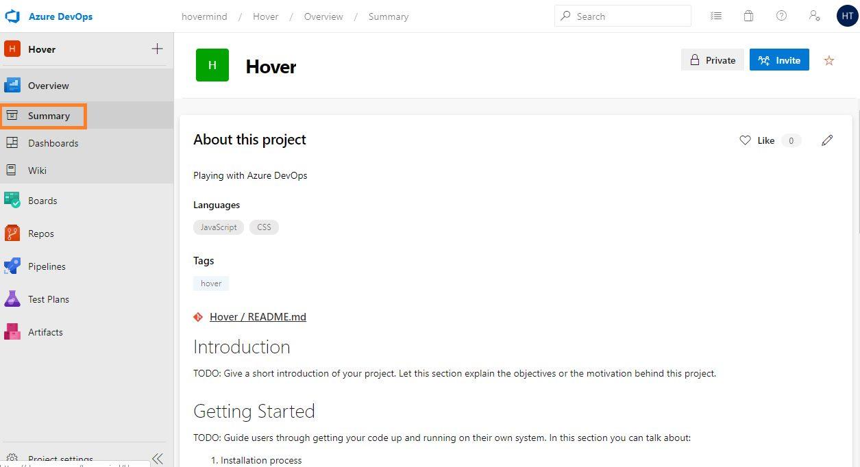 Azure DevOps overview Step 2